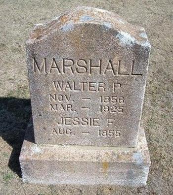 MARSHALL, WALTER P - Ford County, Kansas | WALTER P MARSHALL - Kansas Gravestone Photos