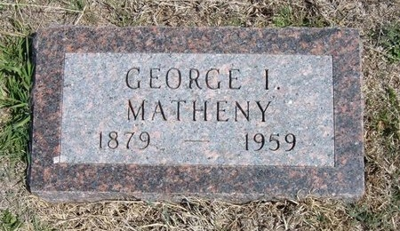MATHENY, GEORGE I - Ford County, Kansas | GEORGE I MATHENY - Kansas Gravestone Photos