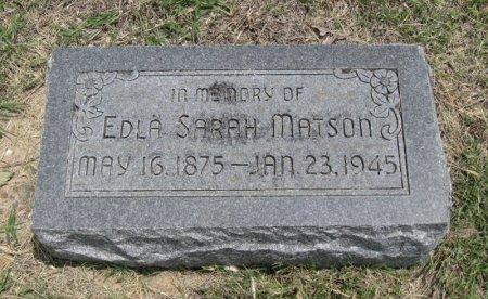 MATSON, ELDA SARAH - Ford County, Kansas   ELDA SARAH MATSON - Kansas Gravestone Photos
