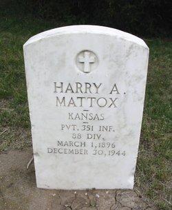 MATTOX, HARRY A (VETERAN WWI) - Ford County, Kansas   HARRY A (VETERAN WWI) MATTOX - Kansas Gravestone Photos
