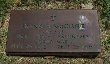 MCCLURE, FRANK H (VETERAN WWI) - Ford County, Kansas | FRANK H (VETERAN WWI) MCCLURE - Kansas Gravestone Photos