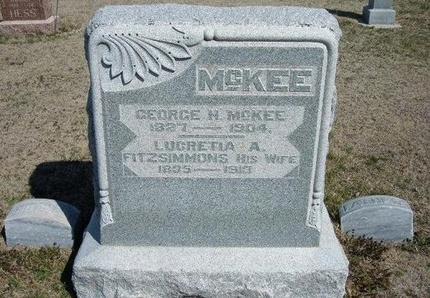 FITZSIMMONS MCKEE, LUCRETIA A - Ford County, Kansas | LUCRETIA A FITZSIMMONS MCKEE - Kansas Gravestone Photos