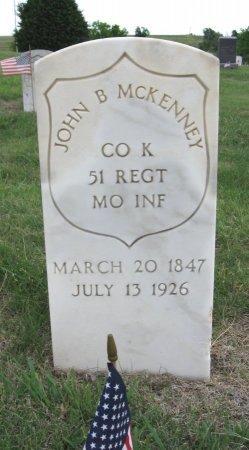 MCKENNEY, JOHN B (VETERAN UNION) - Ford County, Kansas   JOHN B (VETERAN UNION) MCKENNEY - Kansas Gravestone Photos