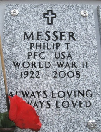 MESSER, PHILIP T (VETERAN WWII) - Ford County, Kansas | PHILIP T (VETERAN WWII) MESSER - Kansas Gravestone Photos