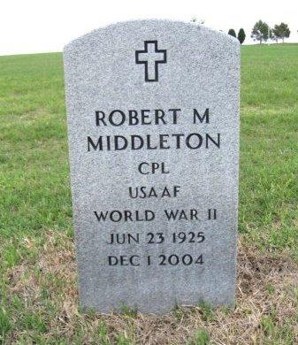 MIDDLETON, ROBERT M (VETERAN WWII) - Ford County, Kansas | ROBERT M (VETERAN WWII) MIDDLETON - Kansas Gravestone Photos