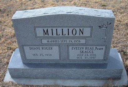 "SKAGGS MILLION, EVELYN REAUJEAN ""JEAN"" - Ford County, Kansas | EVELYN REAUJEAN ""JEAN"" SKAGGS MILLION - Kansas Gravestone Photos"