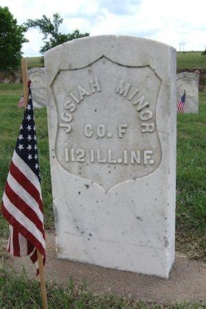 MINOR, JOSIAH (VETERAN UNION) - Ford County, Kansas | JOSIAH (VETERAN UNION) MINOR - Kansas Gravestone Photos