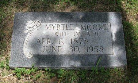MOORE, MYRTLE - Ford County, Kansas | MYRTLE MOORE - Kansas Gravestone Photos