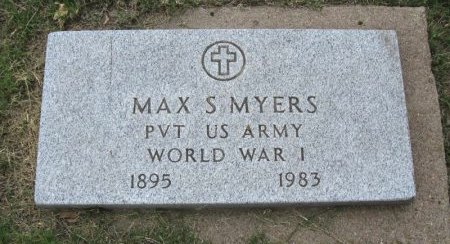 MYERS, MAX SHERWOOD (VETERAN WWI) - Ford County, Kansas | MAX SHERWOOD (VETERAN WWI) MYERS - Kansas Gravestone Photos