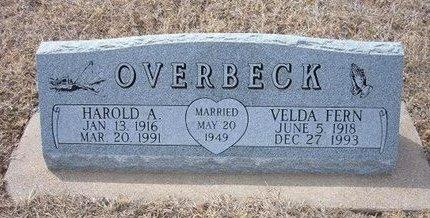 OVERBECK, HAROLD A - Ford County, Kansas | HAROLD A OVERBECK - Kansas Gravestone Photos