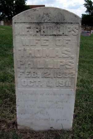 PHILLIPS, MARGARET F - Ford County, Kansas   MARGARET F PHILLIPS - Kansas Gravestone Photos