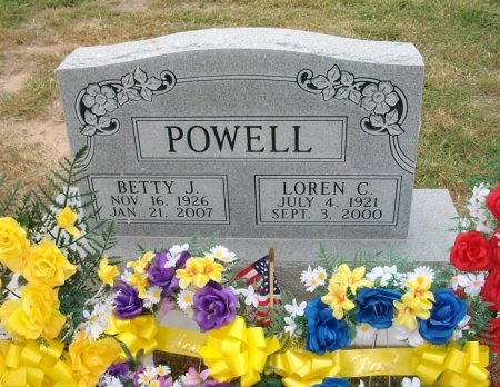 FITZSIMMONS POWELL, BETTY JEAN  - Ford County, Kansas | BETTY JEAN  FITZSIMMONS POWELL - Kansas Gravestone Photos