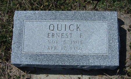 QUICK, ERNEST F - Ford County, Kansas | ERNEST F QUICK - Kansas Gravestone Photos