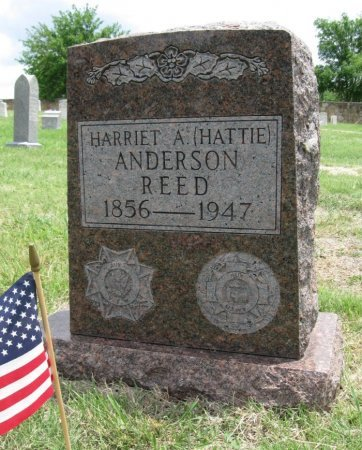 """REED, HARRIET A """"HATTIE"""" ANDERSON - Ford County, Kansas   HARRIET A """"HATTIE"""" ANDERSON REED - Kansas Gravestone Photos"""