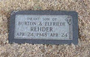 REHDER, INFANT SON - Ford County, Kansas | INFANT SON REHDER - Kansas Gravestone Photos