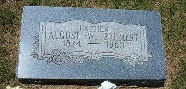 REHMERT, AUGUST WILLIAM - Ford County, Kansas   AUGUST WILLIAM REHMERT - Kansas Gravestone Photos