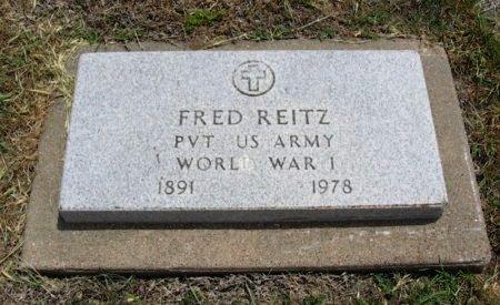 REITZ, FRED (VETERAN WWI) - Ford County, Kansas | FRED (VETERAN WWI) REITZ - Kansas Gravestone Photos
