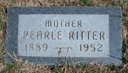 RITTER, PEARLE - Ford County, Kansas   PEARLE RITTER - Kansas Gravestone Photos