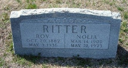 RITTER, NOLIA - Ford County, Kansas | NOLIA RITTER - Kansas Gravestone Photos