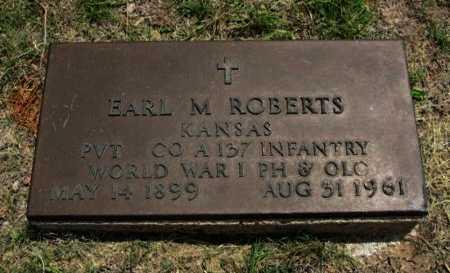 ROBERTS, EARL M (VETERAN WWI) - Ford County, Kansas | EARL M (VETERAN WWI) ROBERTS - Kansas Gravestone Photos