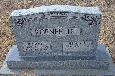 ROENFELDT, HERBERT J - Ford County, Kansas | HERBERT J ROENFELDT - Kansas Gravestone Photos