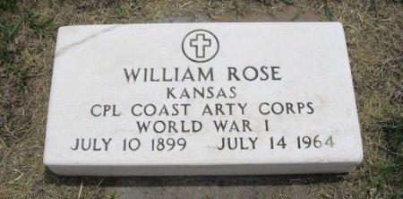 ROSE, WILLIAM ( VETERAN WWI) - Ford County, Kansas | WILLIAM ( VETERAN WWI) ROSE - Kansas Gravestone Photos