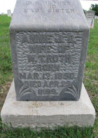 """ROTH, ANNA JULIETTE DILLON """"ANNIE""""  - Ford County, Kansas   ANNA JULIETTE DILLON """"ANNIE""""  ROTH - Kansas Gravestone Photos"""