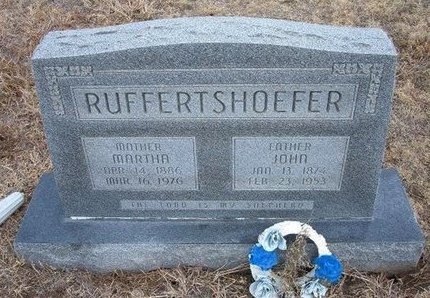 RUFFERTSHOEFER, MARTHA - Ford County, Kansas | MARTHA RUFFERTSHOEFER - Kansas Gravestone Photos