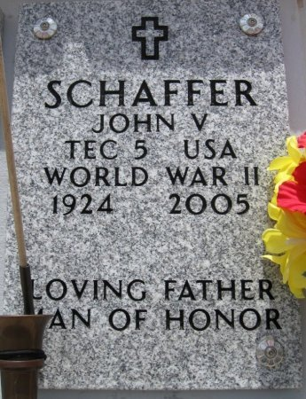 SCHAFFER, JOHN V (VETERAN WWII) - Ford County, Kansas | JOHN V (VETERAN WWII) SCHAFFER - Kansas Gravestone Photos
