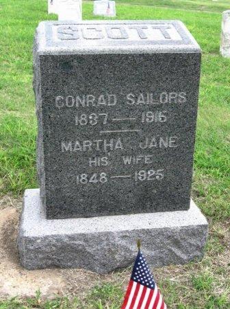 SCOTT, CONRAD SAILORS - Ford County, Kansas | CONRAD SAILORS SCOTT - Kansas Gravestone Photos