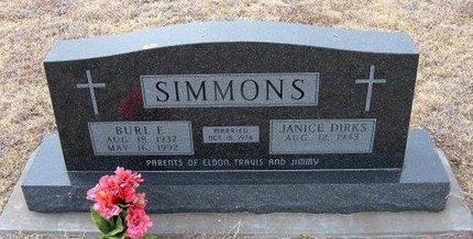 SIMMONS, BURL  E - Ford County, Kansas | BURL  E SIMMONS - Kansas Gravestone Photos