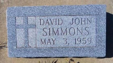 SIMMONS, DAVID JOHN - Ford County, Kansas | DAVID JOHN SIMMONS - Kansas Gravestone Photos