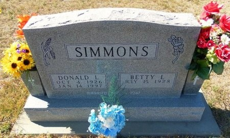 SIMMONS, DONALD LEON - Ford County, Kansas | DONALD LEON SIMMONS - Kansas Gravestone Photos