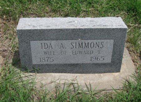 SIMMONS, IDA A - Ford County, Kansas   IDA A SIMMONS - Kansas Gravestone Photos