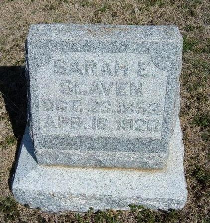 SLAVEN, SARAH EUNICE - Ford County, Kansas   SARAH EUNICE SLAVEN - Kansas Gravestone Photos