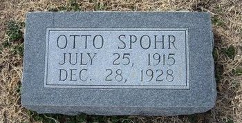 SPOHR, OTTO - Ford County, Kansas | OTTO SPOHR - Kansas Gravestone Photos