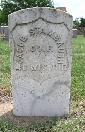 STAMBAUGH, JACOB (VETERAN UNION) - Ford County, Kansas   JACOB (VETERAN UNION) STAMBAUGH - Kansas Gravestone Photos