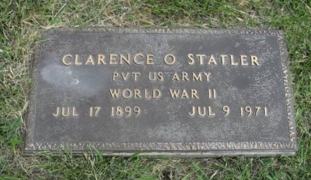 STATLER, CLARENCE O (VETERAN WWII) - Ford County, Kansas   CLARENCE O (VETERAN WWII) STATLER - Kansas Gravestone Photos