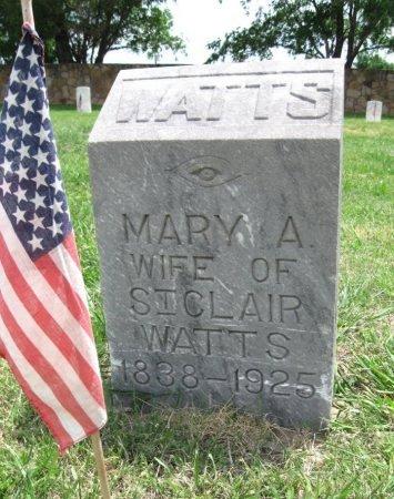 WATTS, MARY A - Ford County, Kansas   MARY A WATTS - Kansas Gravestone Photos