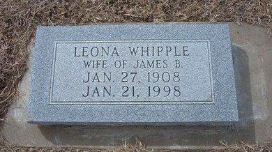 WHIPPLE, LEONA - Ford County, Kansas | LEONA WHIPPLE - Kansas Gravestone Photos