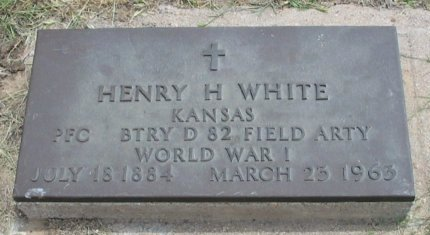 WHITE, HENRY H (VETERAN WWI) - Ford County, Kansas | HENRY H (VETERAN WWI) WHITE - Kansas Gravestone Photos