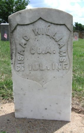 WILLIAMS, ISAAC (VETERAN UNION) - Ford County, Kansas   ISAAC (VETERAN UNION) WILLIAMS - Kansas Gravestone Photos