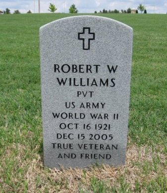 WILLIAMS, ROBERT W (VETERAN WWII) - Ford County, Kansas   ROBERT W (VETERAN WWII) WILLIAMS - Kansas Gravestone Photos