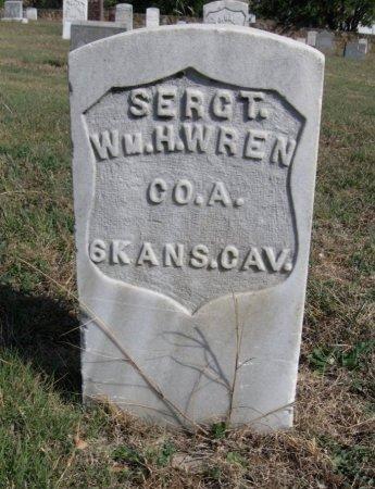 WREN, WILLIAM H (VETERAN UNION) - Ford County, Kansas   WILLIAM H (VETERAN UNION) WREN - Kansas Gravestone Photos