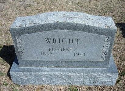 WRIGHT, FLORENCE - Ford County, Kansas | FLORENCE WRIGHT - Kansas Gravestone Photos
