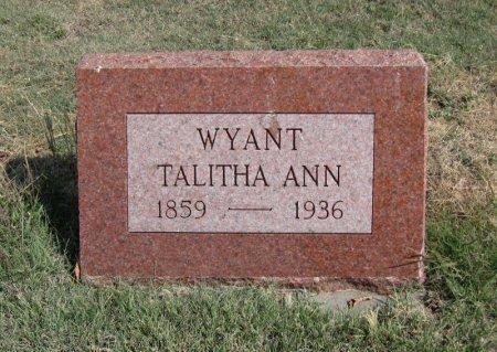 ENGLE WYANT, TALITHA A - Ford County, Kansas | TALITHA A ENGLE WYANT - Kansas Gravestone Photos