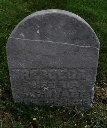 WYATT, REBECCA - Ford County, Kansas   REBECCA WYATT - Kansas Gravestone Photos