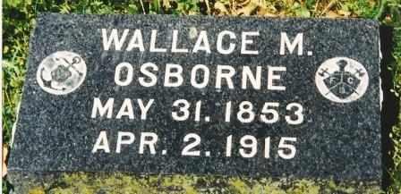 OSBORNE, WALLACE M - Franklin County, Kansas   WALLACE M OSBORNE - Kansas Gravestone Photos