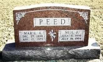 KINNEY PEED, MARIE ANN - Franklin County, Kansas | MARIE ANN KINNEY PEED - Kansas Gravestone Photos