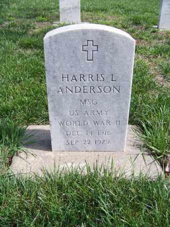 ANDERSON, HARRIS LEROY  (VETERAN WWII) - Geary County, Kansas | HARRIS LEROY  (VETERAN WWII) ANDERSON - Kansas Gravestone Photos